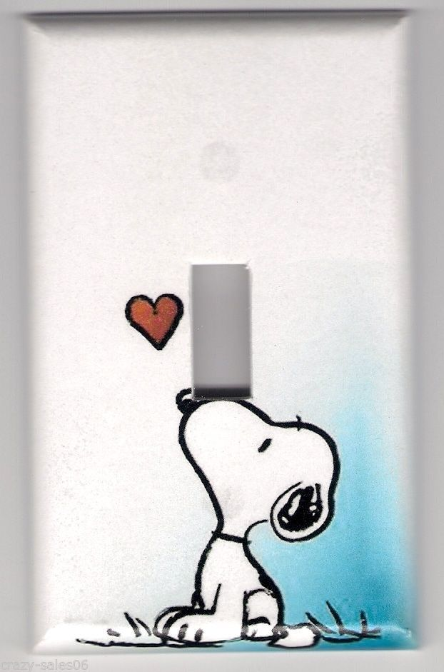 Snoopy Decorative Light Switch Plate Cover