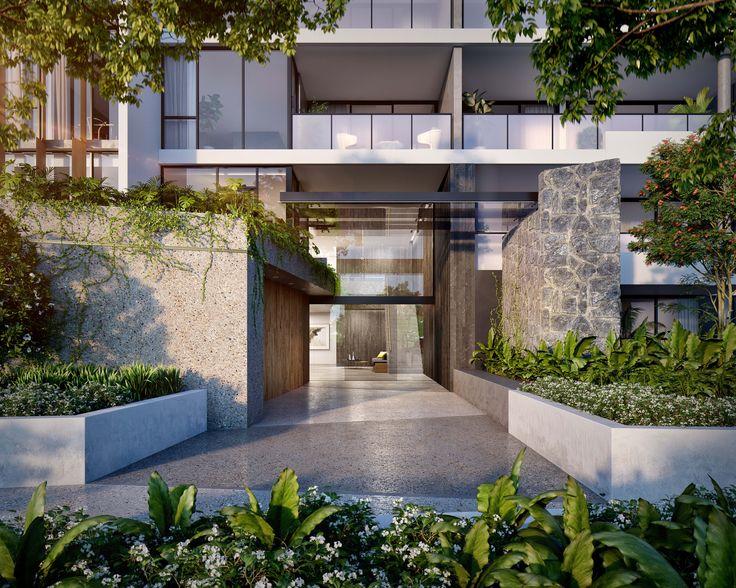 Vantage Dawn | Designed by Ellivo | www.ellivo.com#render #architecture #stone #concrete #plants #landscape #deisng #timber