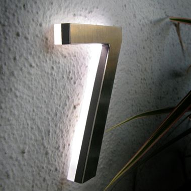 """MODERN LED HOUSE NUMBER 5"""" OUTDOOR"""