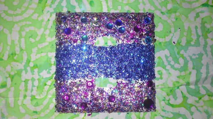 Glitter outlet cover..homemade