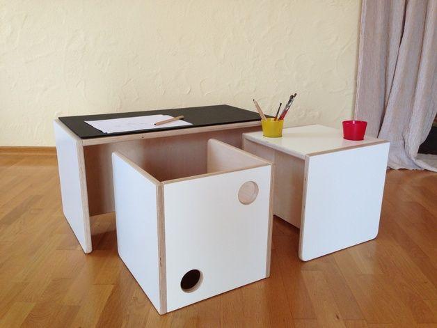 Perfect Kindersitzgruppe aus Holz furniture for childern us room made of wood by weluschu via DaWanda