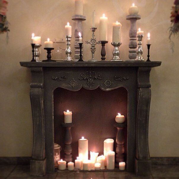 Candles In The Fireplace Choose A Candle Color That Is Opposite