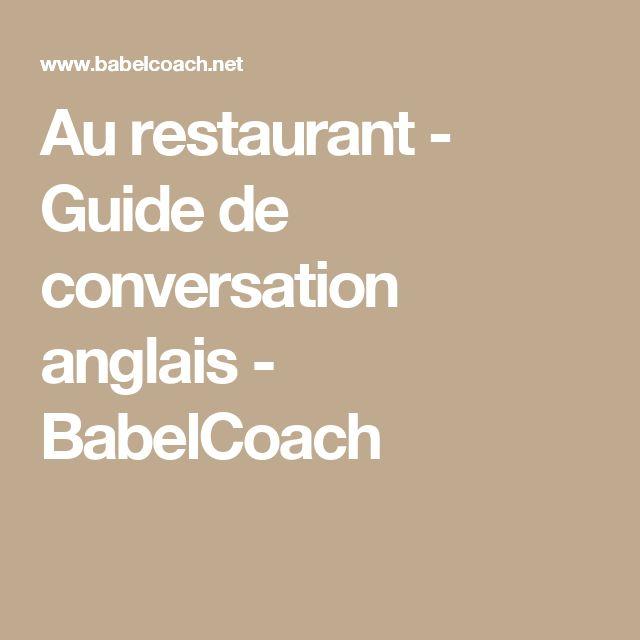 Au restaurant - Guide de conversation anglais - BabelCoach