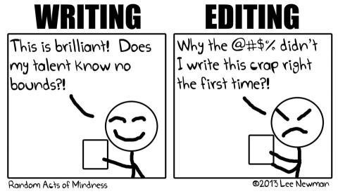 Writing vs Editing