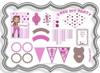 1396 best free printable party kit Collezione materiale per