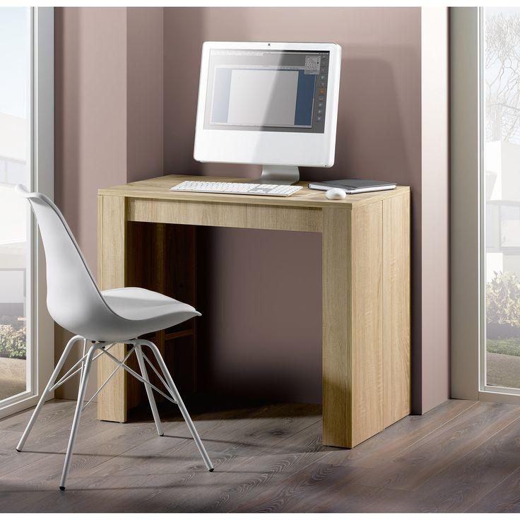 Table console extensible en bois avec allonges EXTENSO port offert