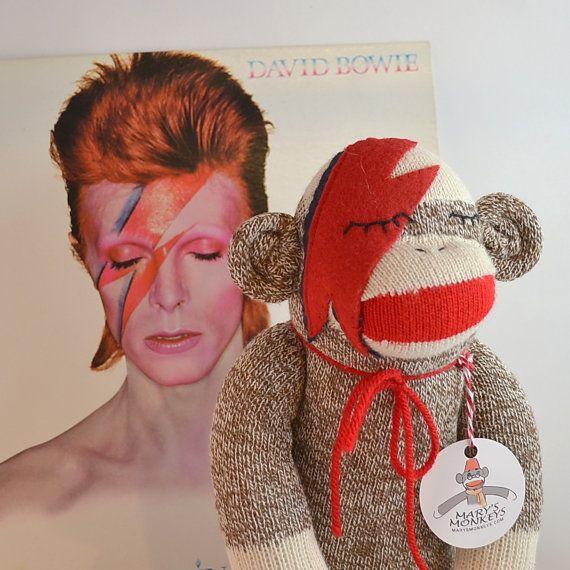 Ziggy Star Sock Monkey Doll Bowie Inspired by MarysMonkeys on Etsy