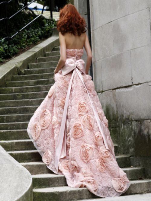Zsa Zsa Bellagio: Pink Roses, Wedding Dressses, Fashion, Pink Wedding Dresses, Wedding Gowns, Beautiful Dresses, Sherri Hills, Prom Dresses, Pink Gowns