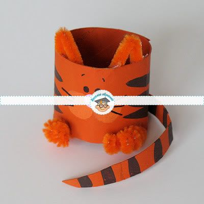 Поделки из втулки от туалетной бумаги: котёнок