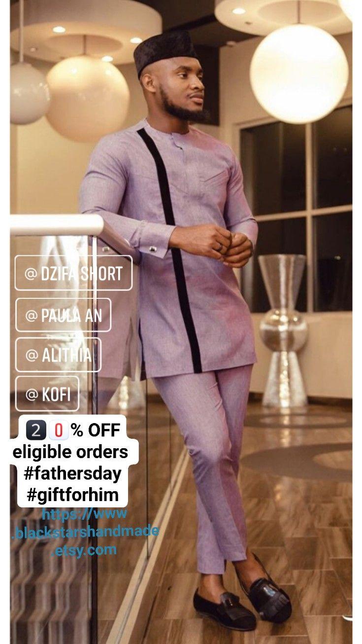 African mens clothing caftan wedding guest suit ghana