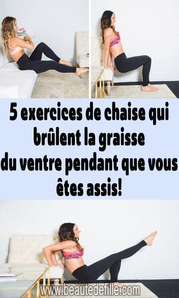5 exercices de chaise qui brûlent la graisse du ventre ...
