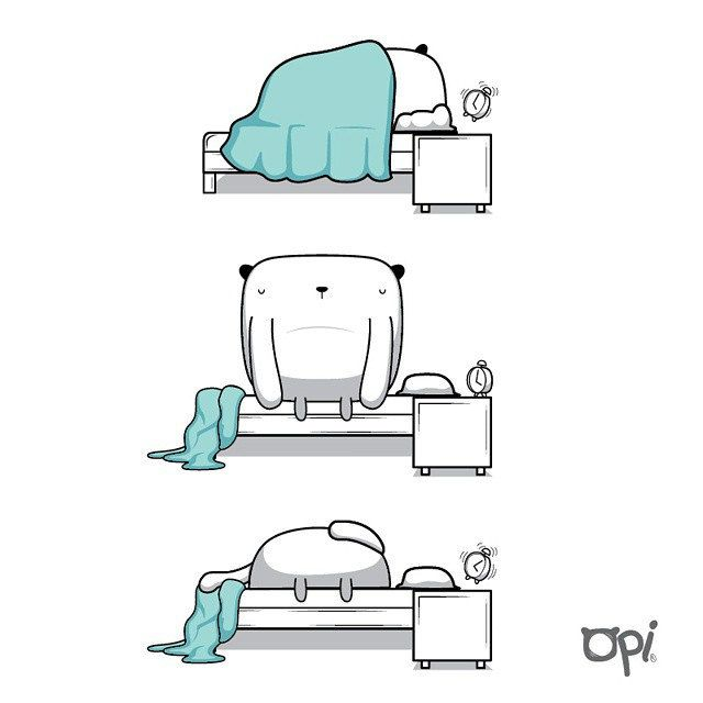 Wake up #opi #cute #kawaii #illustration #ilustración #draw #dibujo | Flickr - Photo Sharing!
