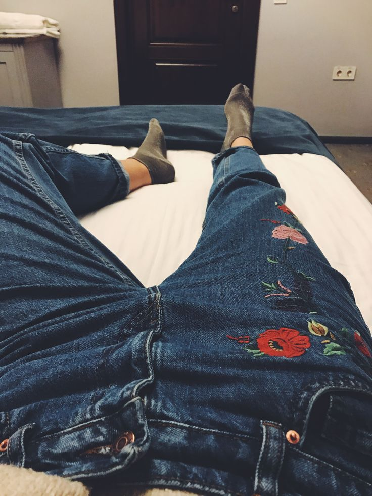 New Flower jeans, beautiful cool jeans trend