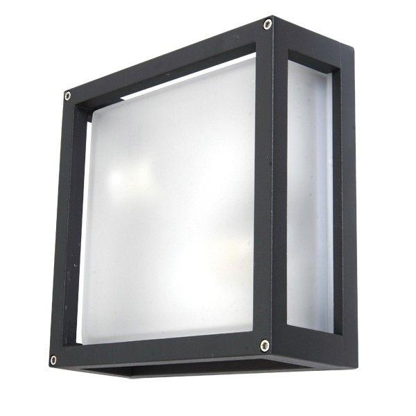 Benetti 2 Light Plain Square Wall Bracket in Charcoal | Outdoor House Lighting | Outdoor Lighting | Lighting