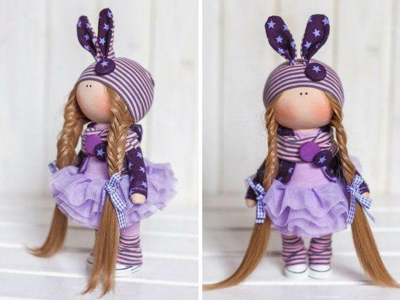 Bunny doll Cloth doll Fabric doll Interior por AnnKirillartPlace