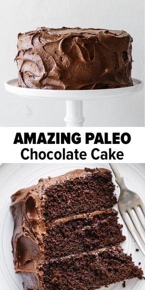 Cette recette de gâteau au chocolat paléo est incroyablement riche, décadente et moelleuse. C'est …   – Paleo chocolate cake