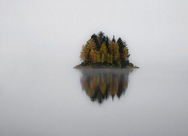 Остров на озере в Национальном парке Паанаярви, Карелия, Россия.