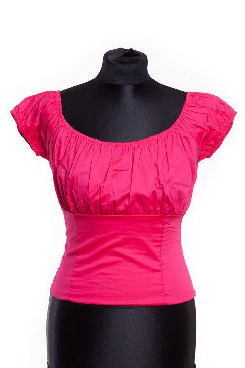 Viva Dulce Top Pink 1950s style fuchsia roze shirt