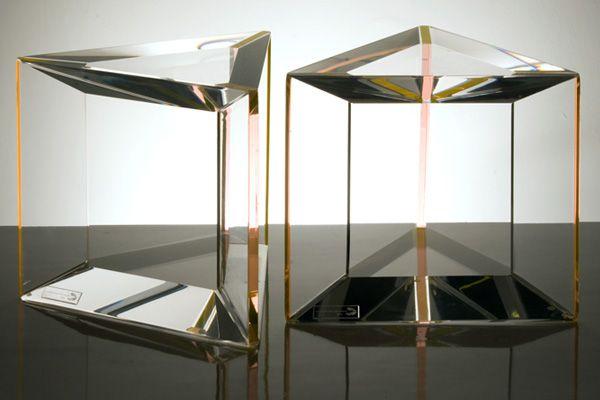 love love love these Trillion side tables from Alexandra Von Furstenberg.
