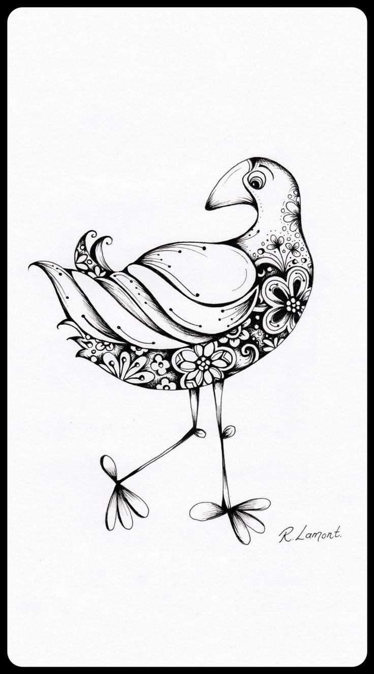 Pukeko ink illustration | New Zealand Bird | Kiwiana | Robyn Lamont NZ artist