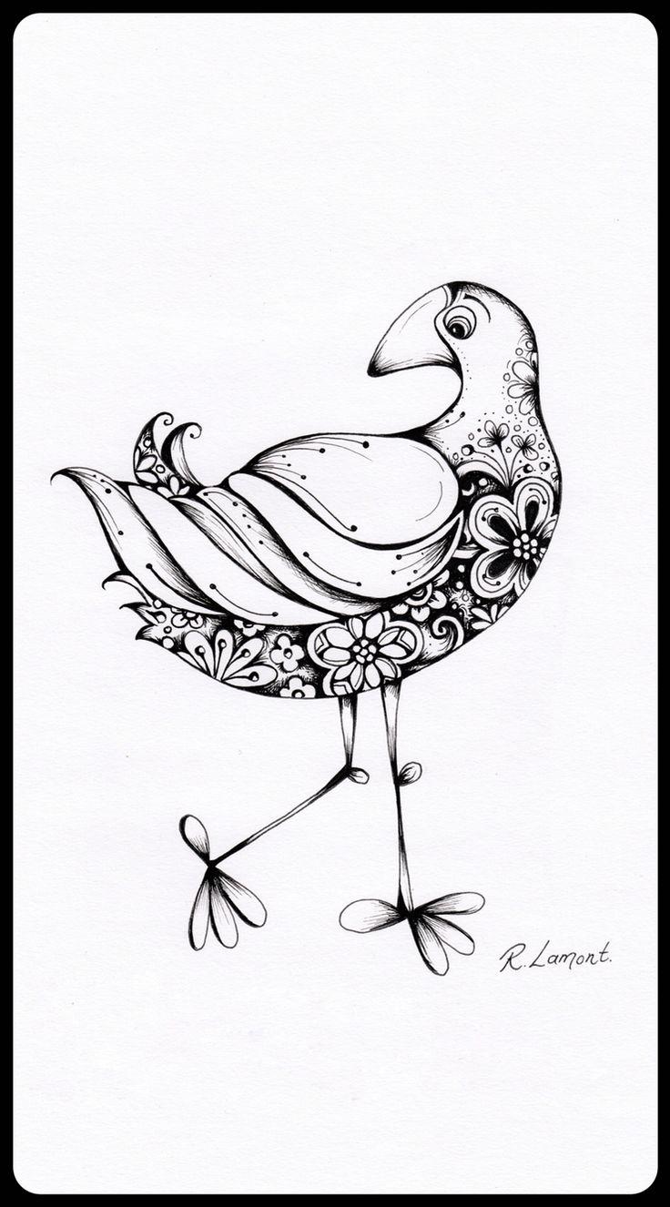 Pukeko ink illustration | New Zealand Bird | Kiwiana | Robyn Lamont NZ artist