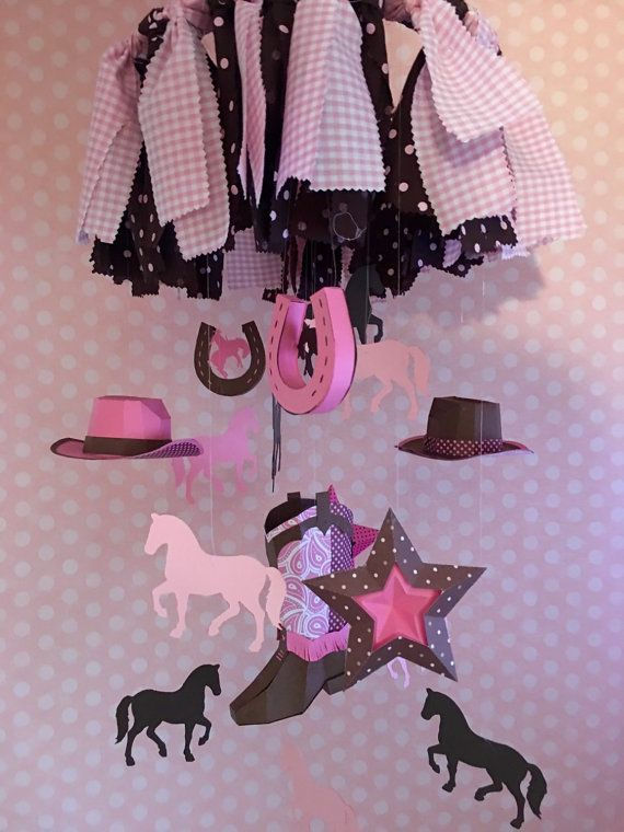 Cowgirl Baby mobile / Crib Mobile /Nursery by UniquePartiesByPatti