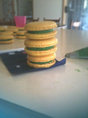 Green and Gold Macarons1