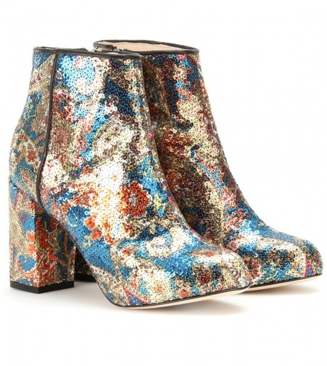 paisley patterned sequined ankle boots lovely shoes
