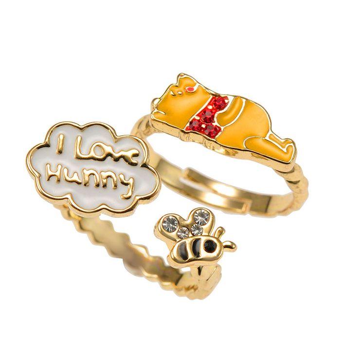 Winnie The Pooh 2 Piece Ring Set