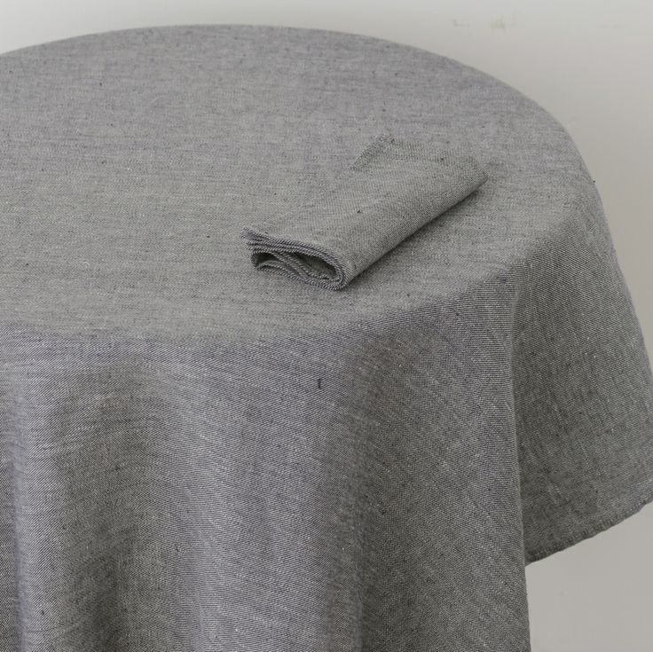 Fog Linen | Tablecloth: Linen Denim