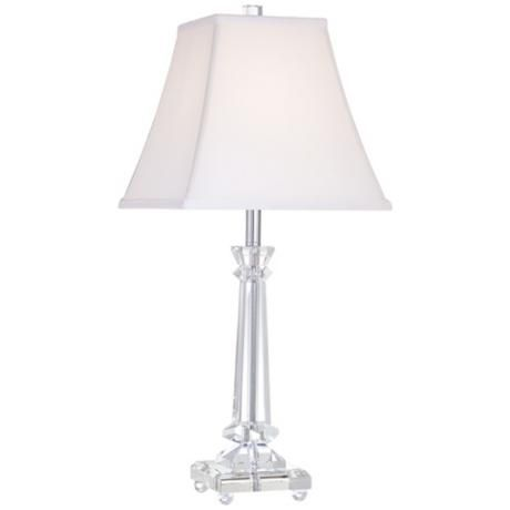 Tapered Crystal Column Lamp  $99.99, LampsPlus, Grace And Elegance Define  This Shapely Table