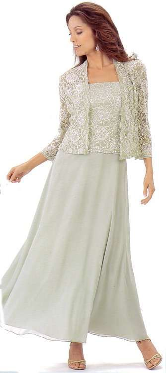 mother of the groom dresses for summer -- beautiful dress, love the length and the removable jacket...