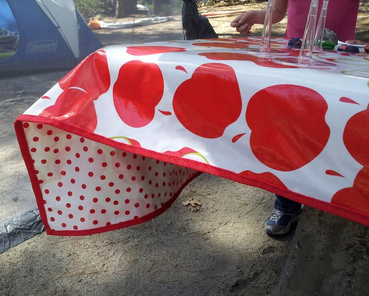 Cute Double Sided Sturdy Outdoor Tablecloth Made From Oil Cloth. I Think I  Will Make