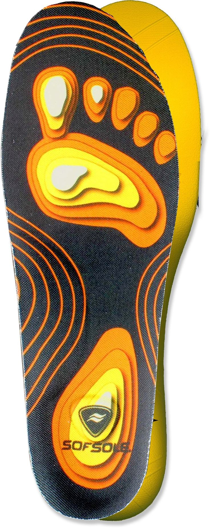 Tailored to fit your arches—Sof Sole FIT Series High Arch Insoles.