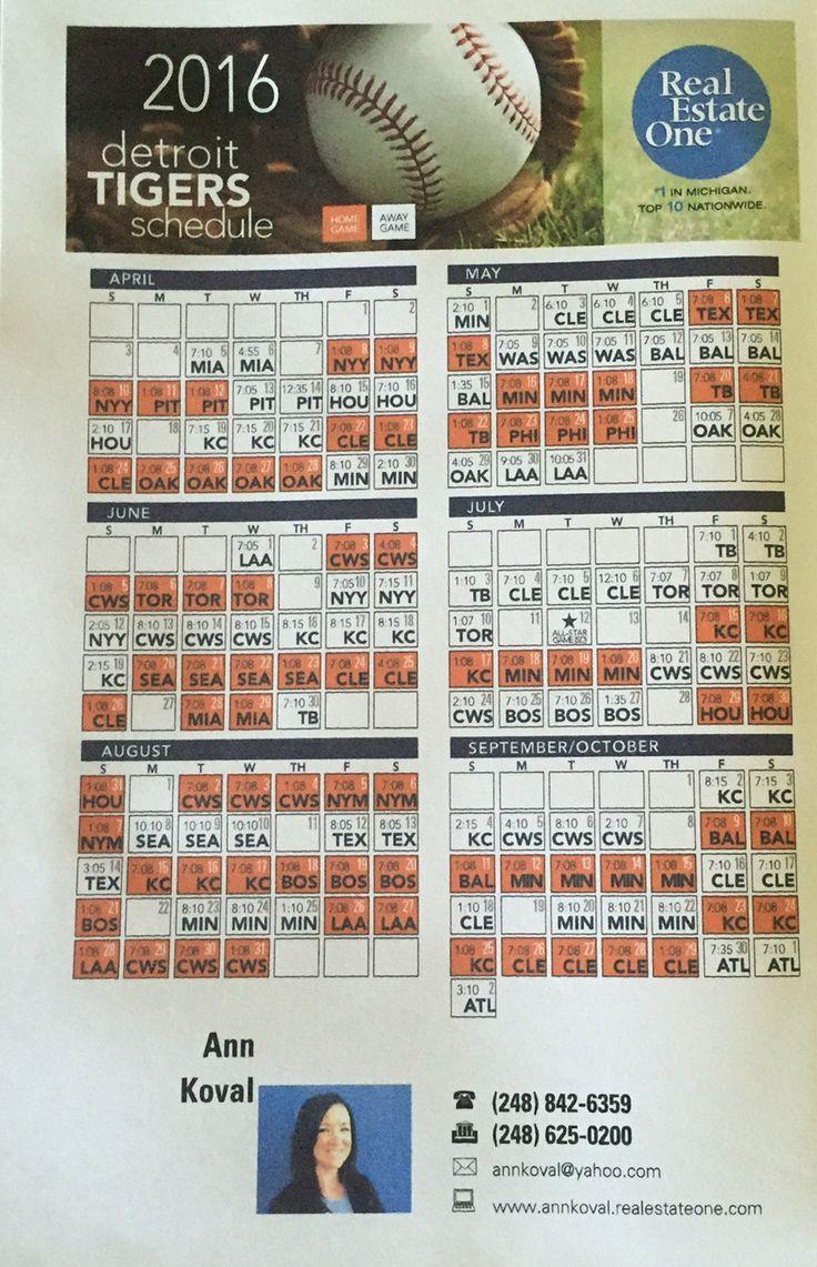 2016 Tigers Schedule