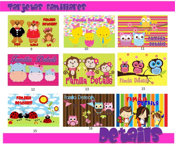 1000 images about tarjetas de presentacion familiares on - Disenos de tarjetas ...