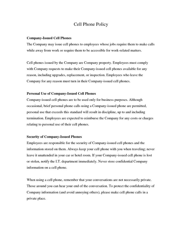 public relations agreement template - company issued cell phone policy template gallery
