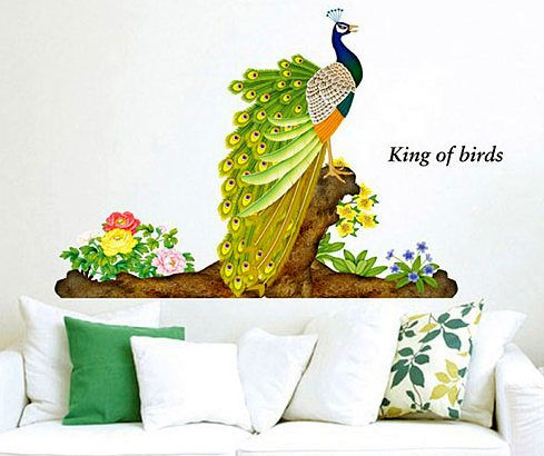 3D peacock King of the bird wall stickers from SYGA wall stickers