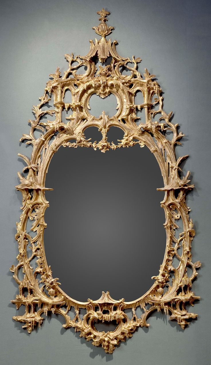 An Exceptional English Rococo Carved And Gilded Mirror