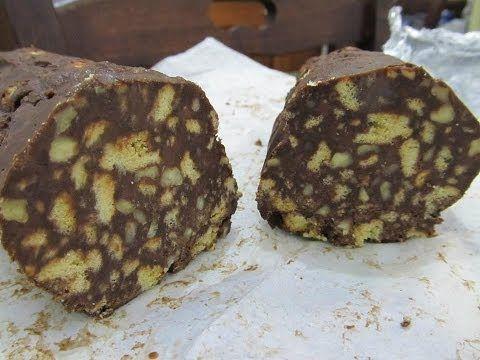 Salame di cioccolato   Tutorial ricetta - YouTube