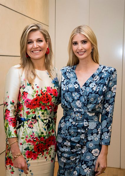 US First Daughter and Advisor to the US President Ivanka Trump and Queen Maxima of The Netherlands attend the W20 conference on April 25, 2017 in Berlin, Germany. The conference, part of a series of events in connection with Germany's leadership of the G20 group of nations this year, focuses on women's empowerment, especially through entrepreneurship and the digital economy.