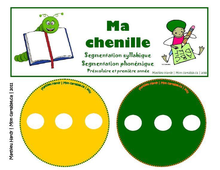 Mon cartable - Site de partage de ressources entre enseignants du préscolaire et du primaire - www.moncartable.ca - Ma chenille