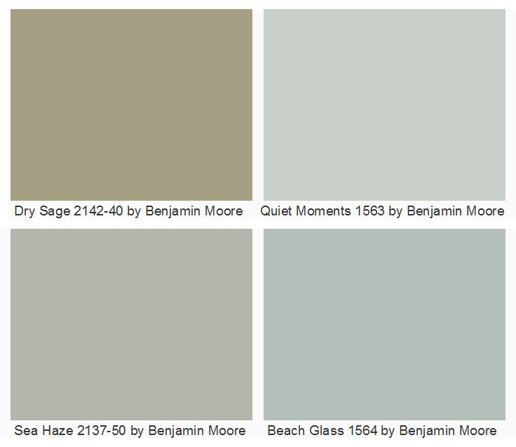 Beach Glass 1564 by Benjamin Moore for dining room I'm thinking (obviously)