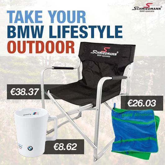 Going for car festivals this summer? Bring a Schmiedmann camp chair. http://goo.gl/Hm7wUm #schmiedmann #bmw