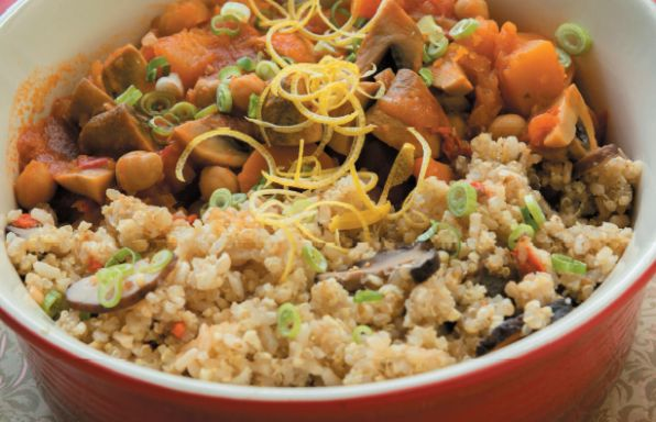 Moroccan Pumpkin and Chickpea Casserole. Delicious family-friendly meal for all to enjoy!