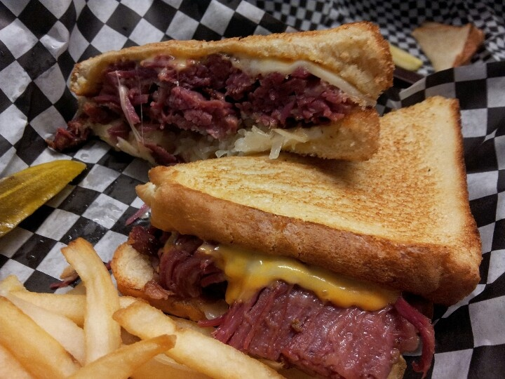 Friday special = smoked corned beef reuben
