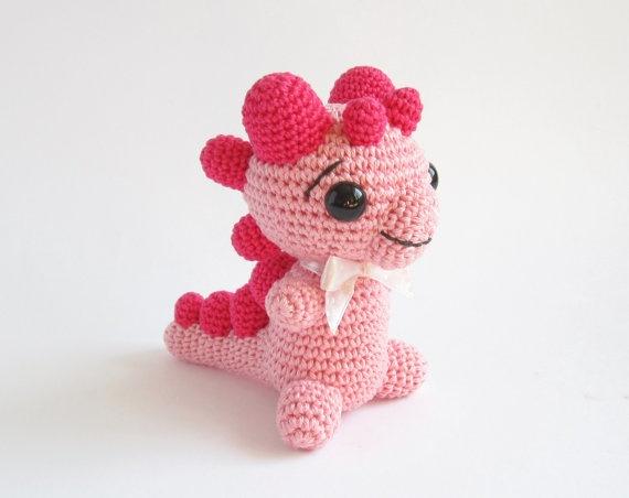 Rattle - Baby Dinosaur: Cute Baby, Baby Dragon, Amigurumi Animal, Baby Etta, Animal Cotton, Adorable Amigurumis, Dinosaurs Amigurumi, Rattle Baby, Baby Dinosaurs