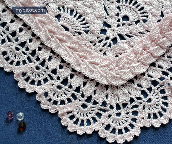 Crochet Cable Edging With Corner - (mypicot)