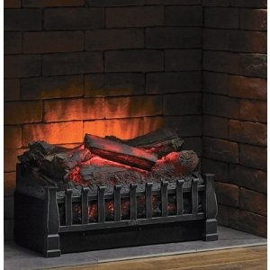 Duraflame Electric Wood Log Wooden Replica Fireplace  - i want this SO badly...