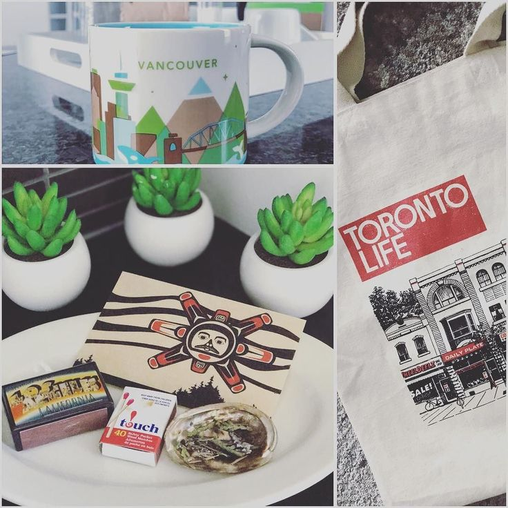 These are three things that I like to bring with me when I'm away from home to help me feel grounded ... - a Starbies mug from my home city so I can look at it every morning as I have my coffee - smudge kit that contains cedar pine and sage (all inside that LA matchbox) - Toronto Life book bag for shopping and stuff. Although I technically live in Vancouver now I still consider Toronto my chosen home. This bag helps me rep my city while also being earth friendly & refusing plastic bags.  In…